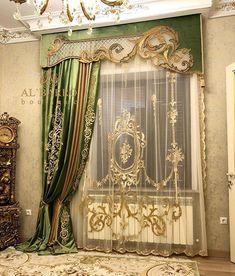 ШТОРЫ AL'BARRO BOUTIQUE в @ albarro_boutique учетной записи Instagram Silk Curtains, Luxury Curtains, Curtains With Blinds, Window Curtains, Bed Valance, Cornice, Valances, Classic Curtains, Elegant Curtains