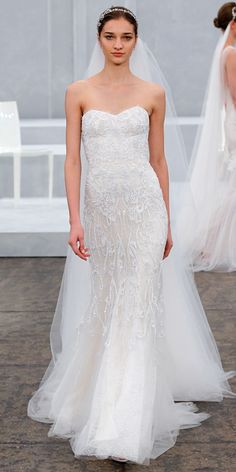 Monique Lhuillier Spring 2015 Bridal Collection - Monique Lhuillier from #InStyle