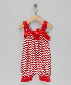 Another great find on #zulily! Red Zigzag Bubble Romper - Infant & Toddler #zulilyfinds