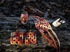 Horgolt ékszerszett  Mirtusz : Őszi-erdő ékszerek Friendship Bracelets, Friend Bracelets