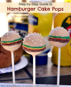 Hamburger Cake Pops - A step-by-step tutorial for making these delicious desserts