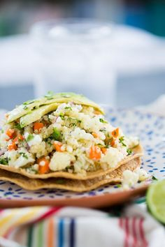 Enjoy the light and bright taste of tostadas, minus the seafood. Photo credit: BrownSugar&Vanilla Womens Health Magazine WOMENS HEALTH MAGAZINE | IN.PINTEREST.COM HEALTH EDUCRATSWEB