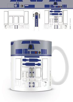 Star Wars - R2 D2 - Ceramic Coffee Mug. Dishwasher and microwave safe. Capacity: ca 11oz. Official Merchandise. FREE SHIPPING