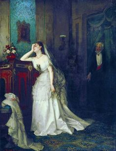 Giclee Print: After the Marriage, 1874 by Firs Sergeevich Zhuravlev : Empire Time, Oil Painting Gallery, Oil Paintings, Russian Painting, 19th Century Fashion, Figure Drawing Reference, Anime Drawings Sketches, Oil Painting Reproductions, Victorian Art