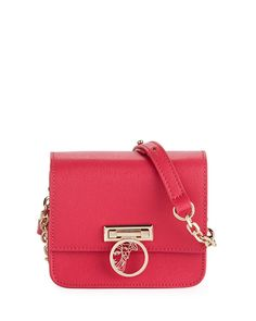 63257251af4 Small Saffiano Leather Crossbody Bag with Medusa, Pink Versace Pink, Luxury  Bags, Leather