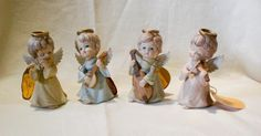 Vintage 1986 Geo Z Lefton Christmas Collection Angels with Instruments Orig Tags #Lefton