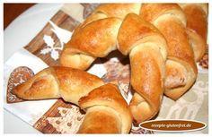 Glutenfreier Hefe - Plunderteig! Leicht formbarer Hefeteig, ideal für süße Hörnchen, Zöpfe, Schnecken, uvm. www.rezepte-glutenfrei.de