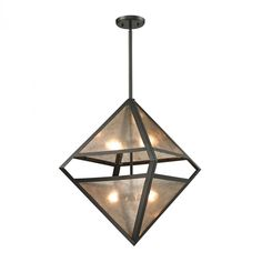 mica 4 light pendant in oil rubbed bronze and tr