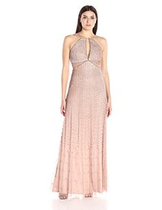 online shopping for Adrianna Papell Women's Long Beaded Halter Gown Side Cut Out Detail from top store. See new offer for Adrianna Papell Women's Long Beaded Halter Gown Side Cut Out Detail Prom Queens, Halter Gown, Side Cuts, Formal Dresses For Women, Prom Dresses, Wedding Dresses, Adrianna Papell, Night Out, Gowns