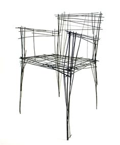 """Drawing furniture series"" by Jinil Park. He has created a range of furniture from intersecting wires that has the appearance of a two-dimensional sketch. Furniture that looks like sketches. Drawing Furniture, Chair Drawing, Furniture Sketches, Furniture Sets, Furniture Design, Building Furniture, Furniture Chairs, Furniture Layout, Furniture Arrangement"
