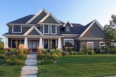 Craftsman Style House Plans - 3313 Square Foot Home , 2 Story, 4 Bedroom and 3 Bath, 4 Garage Stalls by Monster House Plans - Plan 38-475
