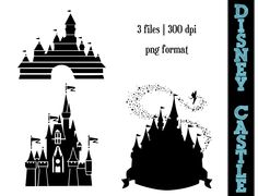 Disney Princess Castle Silhouettes // by SparkYourCreativity