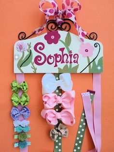 Hair Bow Holder for girls HAIR BOW HOLDER  by HairBowHolders, $79.95