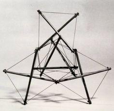 """Kenneth Snelson """"Fair Leda"""" (Early study) 1960"""