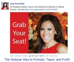 Pinterest Webinar hosted by Amy Porterfield with guest Melanie Duncan. #webinarway