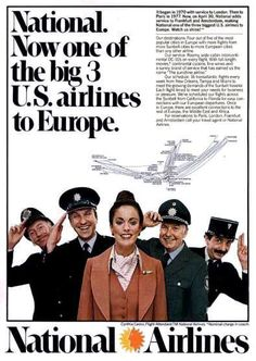 Behind every great woman are a lot of guys. The Sunking is now in the top 3 to Europe! Travel Ads, Airline Travel, Air Travel, Travel Posters, Job Interview Preparation, Northwest Airlines, National Airlines, Vintage Airline, Great Women