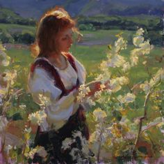 Summer - Mike Malm-Under a Clear Blue Sky Malm, Beautiful Drawings, Beautiful Paintings, Salt Lake City, True Art, Ancient Art, Figure Painting, Figurative Art, Painting Inspiration