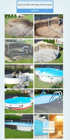 Step By Step: So Einfach Ist Die Montage Eines Achtformpools #pool #