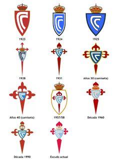 Cronología del escudo del Real Club Celta de Vigo, desde 1923 hasta la actualidad.