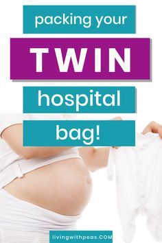 Unsure on what to pack in your hospital bag for twins? WE asked four mums for their hospital bag for twins packing lists. Packing Hospital Bag, Hospital Bag Checklist, Newborn Twins, Newborn Care, Diaper Bag Checklist, Maternity Pads, Hospital Bag For Mom To Be, Expecting Twins, Twin Mom