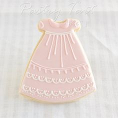Vintage Lace Christening Gown Cookie Favors PINK // 1 doz. // Baby Shower Baptism Christening Antique Vintage Lace // Preservative Free