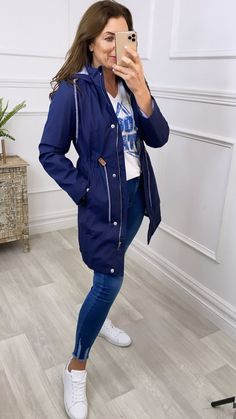 Navy rain jacket, summer jacket, navy jacket, casual jacket, waterproof jacket, hooded rain coat Navy Jacket, Summer Jacket, Hooded Raincoat, Military Jacket, Charlotte, Casual, Jackets, Style, Fashion