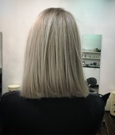In love with my new granny hair long bob #grannyhair #longbob