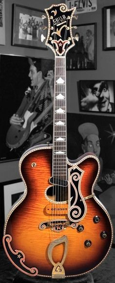 Guild 1963 Merle Travis Signature guitar. One of three made. Owned by Rick Nielsen of Cheap Trick. Estimated value? One Million dollars....