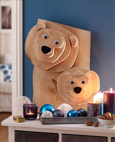 Weihnachts-Bären Bastelanleitung zum selber basteln