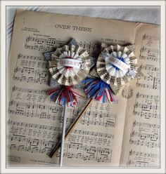 Vintage Inspired Patriotic Star Wands  Set by crepeconfectionary, $18.00