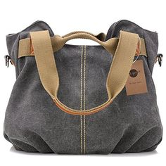 New Trending Shopper Bags: Z-joyee Womens Ladies Casual Vintage Hobo Canvas Daily Purse Top Handle Shoulder Tote Shopper Handbag Satchel Bag. Z-joyee Women's Ladies Casual Vintage Hobo Canvas Daily Purse Top Handle Shoulder Tote Shopper Handbag Satchel Bag   Special Offer: $24.99      444 Reviews The bag is made of durable 16 oz washed canvas,which adopts finished products washing process with high-quality cotton canvas....