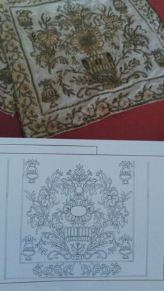This Pin was discovered by Nil Folk Embroidery, Machine Embroidery Patterns, Embroidery Designs, Palestinian Embroidery, Old Hands, Gold Work, Satin Stitch, Line Art, Needlework