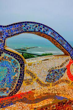 Mosaic Bench - Miraflores Lima Peru. Chris Taylor.