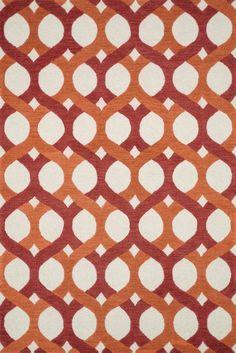 "Loloi Rugs - Weston - 7'-9"" X 9'-9"" - Red / Orange"