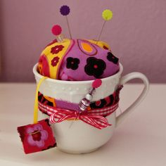 With Gramzy's vintage teacups?