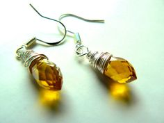 Yellow Crystal - silver