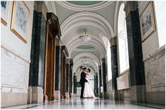 Bride and groom kissing at Islington Town Hall Wedding