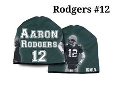 Green Bay Packers Beanie Lightweight Aaron Rodgers Design 41e9c8fa6