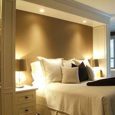 bedroom built ins pot lighting