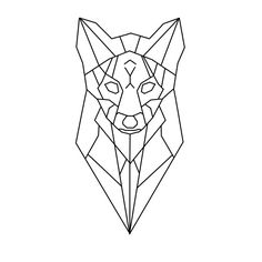 geometric fox head tete loup renard geometrique