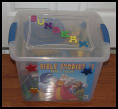 sunbeam box to help with transition from nursery to sunbeams