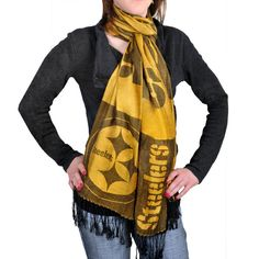 Pittsburgh Steelers Pashmina Lightweight Fashion Scarf