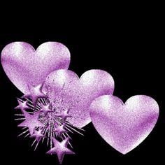 Purple & hearts