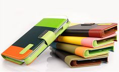 SAMSUNG Galaxy Note2 Leather Wallet Color Kickstand Case 50% off