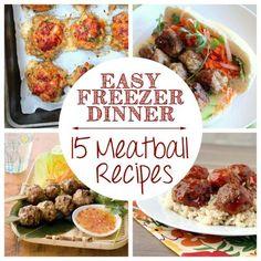 Easy Freezer Dinner: 15 Meatball Recipes