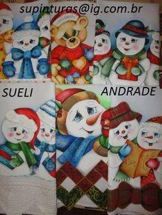 panos decorativos com motivos de Natal