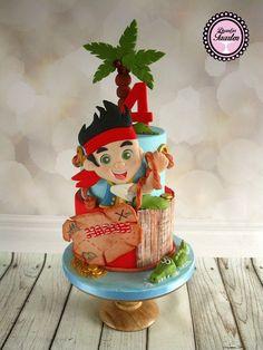 Jake en de nooit gedacht piraten taart