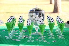 From birthdays to end of season parties these Soccer Theme Party Ideas will impress all your little soccer fans! Soccer Party Favors, Soccer Birthday Parties, Birthday Party Themes, Themed Parties, Mouse Parties, Cake Birthday, Soccer Centerpieces, Birthday Party Centerpieces, Soccer Baby Showers