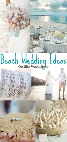 A roundup of beautiful, romantic beach wedding ideas.