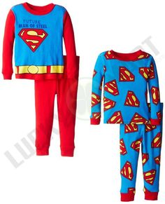 d7cca7f879c1 Set De 2 Pijamas Oficiales De Superman P Nino Varias Tallas en Mercado  Libre México